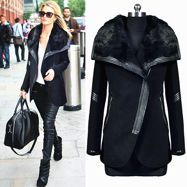 Leather Sleeve Winter Coat | Down Coat