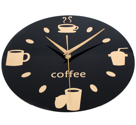 Modern design kitchen wall clock coffee cup retro art Modern clocks for kitchen