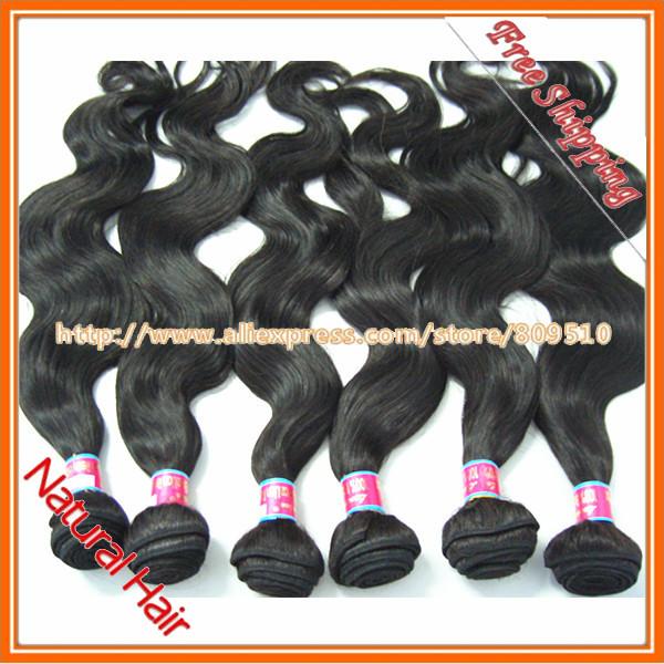 Body Wave Brazilian Remy Human Hair Weaving Color 1b# 14-28inch 10pcs/lot 100% Natural Human Hair DHL free shipping<br><br>Aliexpress