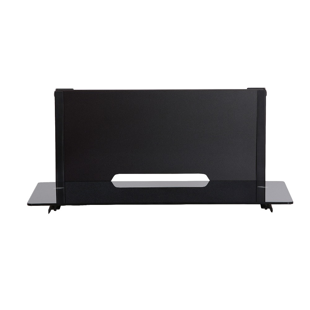 fitueyes wood av shelf component wall mount with 1 tire. Black Bedroom Furniture Sets. Home Design Ideas