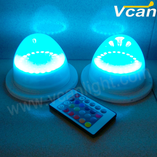 6PCS FAST Free Shipping waterproof ip68 outdoor bulbs or tubes battery operated wireless remote control led pot light(China (Mainland))