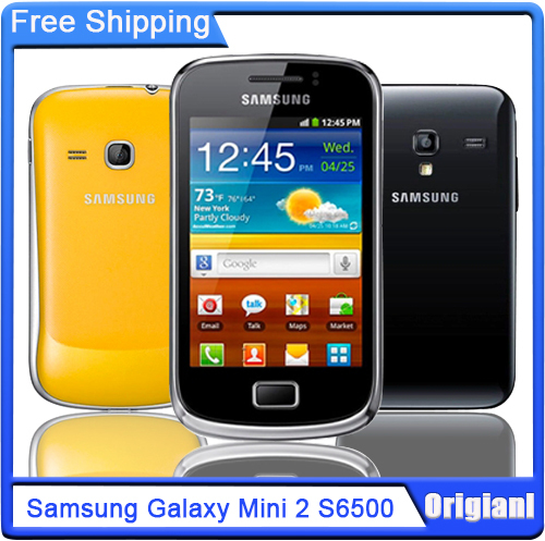 S6500 Original Samsung Galaxy Mini 2 Unlocked S6500 Mobile Phone GPS Android OS Wi-Fi 3.27'' Touch screen 3.15 MP Free Shipping(China (Mainland))