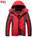 9XL Winter jackets pourpoint XL Plus size windproof coat Waterproof Fleece thickening Big yards Warmth thick