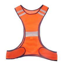 Бег высокая видимость светоотражающий жилет флуоресцентный желтый оранжевый безопасности жилет для ночи на открытом воздухе бег езда жиле...(China)