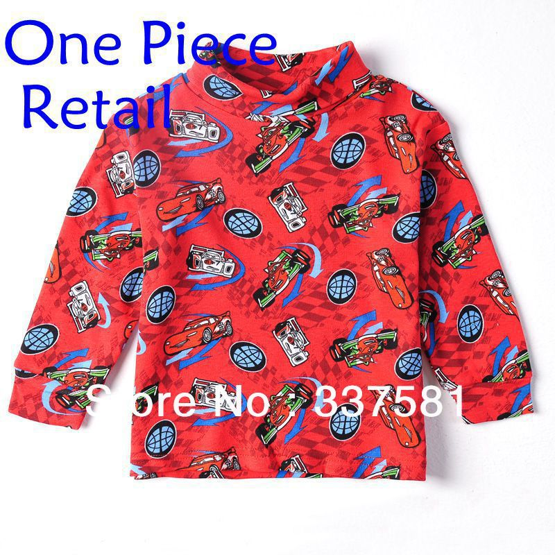 Nova kids wear hot selling children wear racing cars turtleneck boys spring autumn casual baby wear boysT-shirts A2532<br><br>Aliexpress