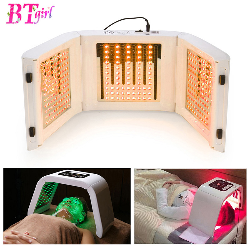 New 4 Color LED PDT Light Skin Care Beauty Machine LED Facial SPA PDT Therapy For Skin Rejuvenation Acne Remover Anti-wrinkle(China (Mainland))