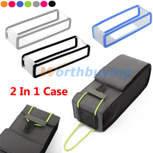 2 in 1 Nylon Travel Carry Bag Pouch + TPU Soft Silicone Case Cover For Bose SoundLink Mini/Mini 2 Bluetooth Speaker(China (Mainland))