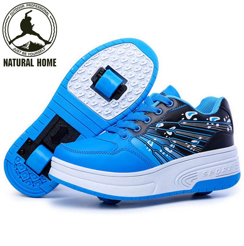 [NaturalHome] Brand Heelys Roller Shoes Wheels Kids Shoes Sneakers for Children Boys Girls Zapatillas Zapatos de ruedas(China (Mainland))