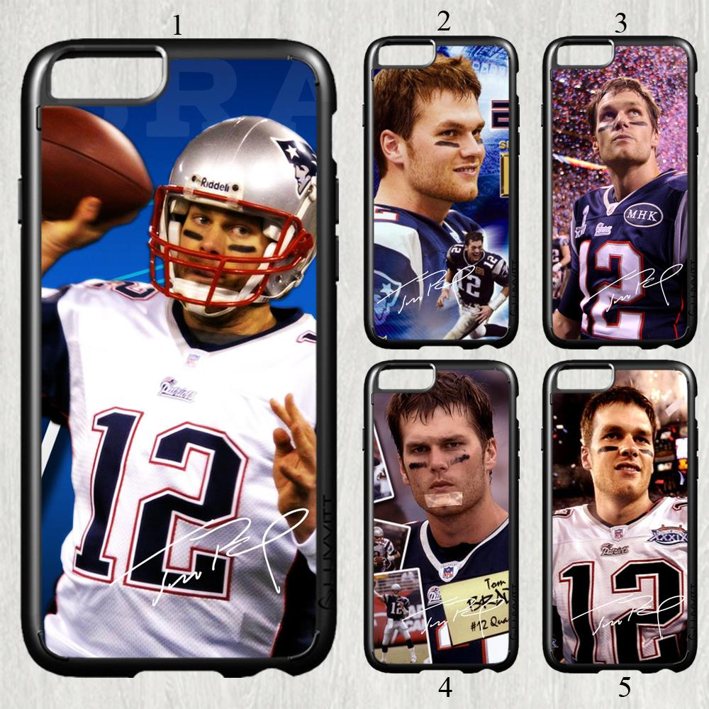 Tom Brady signed NFL star fashion original cell phone case cover for iphone 6 plus (5.5 inch) protection back cover(China (Mainland))