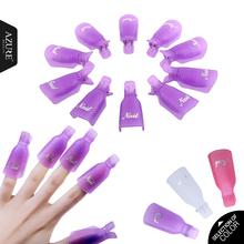 10PC Nail Art Plastic Gel Nail Polish Remover Soak Off Cap Clip UV Gel Polish Wrap Tool fluid for removal of varnish(China (Mainland))
