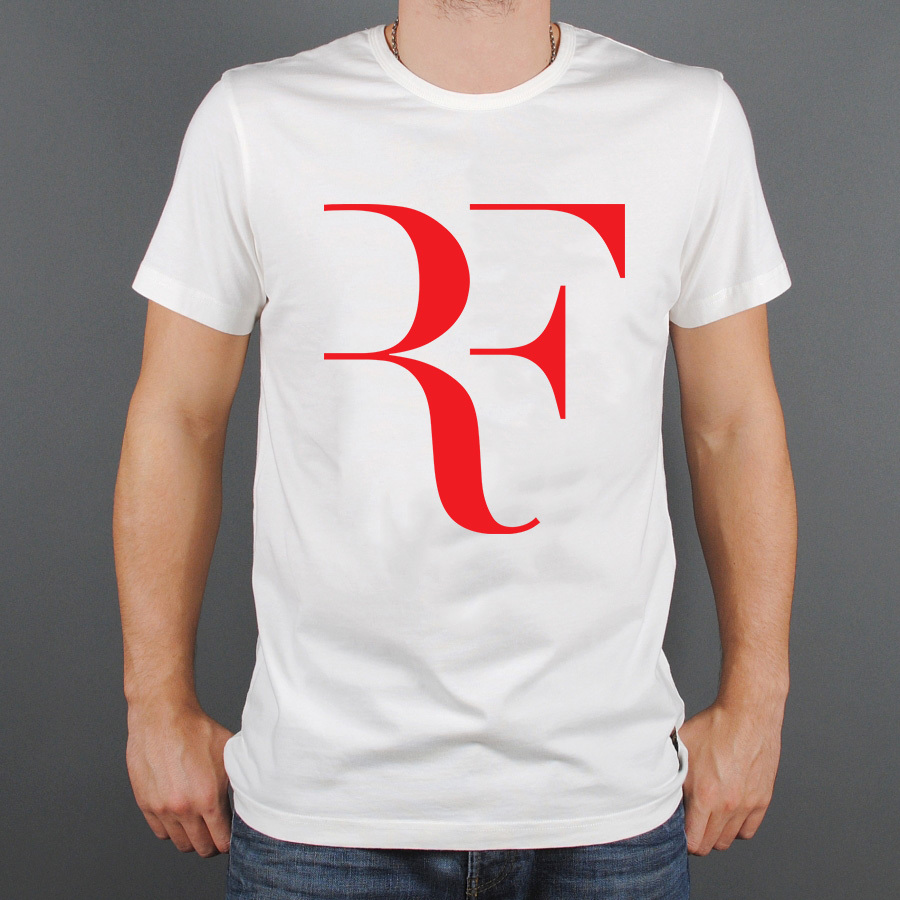 Fashion Print Tennis Star Man Roger Federer T Shirts Round Neck Short Sleeve RF Men Sports t-shirts Brand Top Tee Shirt(China (Mainland))