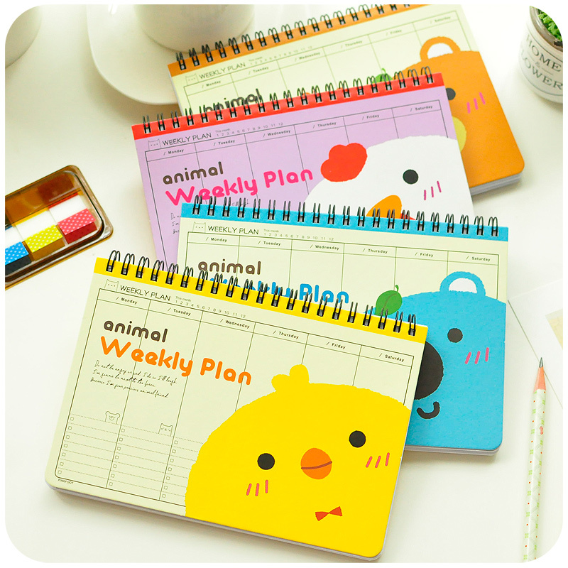 Schedule of the programs of the financial accounts of the hand notepad notebook calendar child family journal of the Korean stat(China (Mainland))
