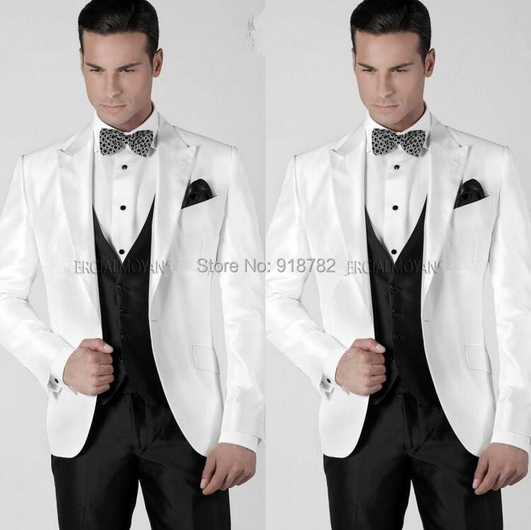 Popular Mens Slim Fitted White Suit-Buy Cheap Mens Slim Fitted