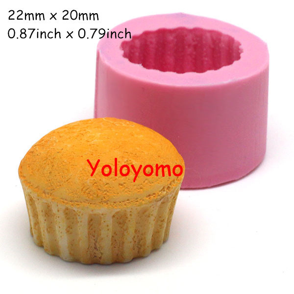 Free shipping G086YL 3D Cupcake Silicone Mold Cake Decoratiing Fondant Chocolate Cookie Candy Soap Resin Polymer Clay Wax Mould(China (Mainland))