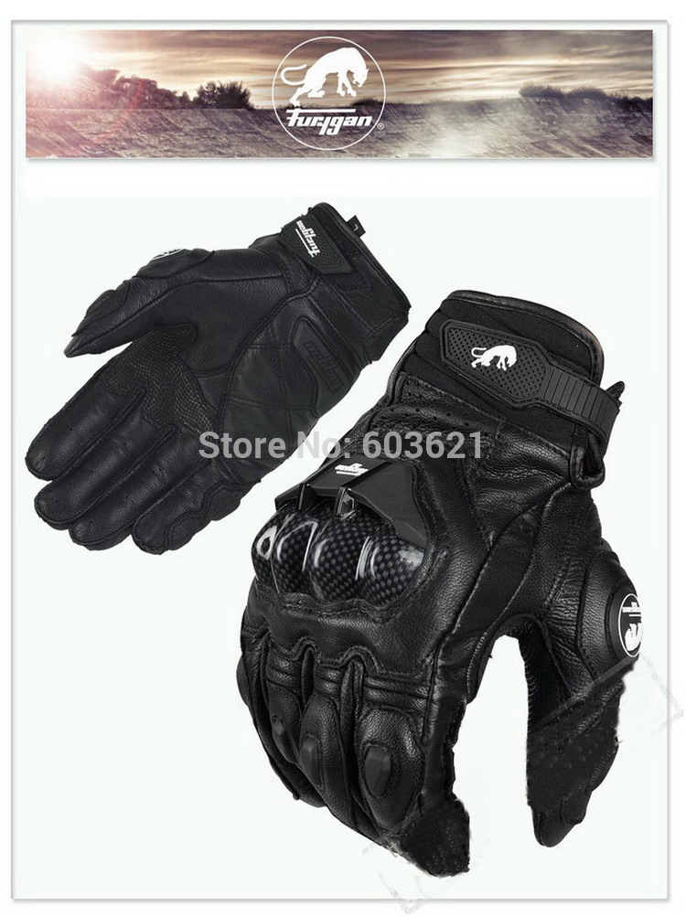 hot sales France top car Jaguar Furygan AFS 6 motorcycle gloves motorbike glove made of leather and carbon fiber(China (Mainland))