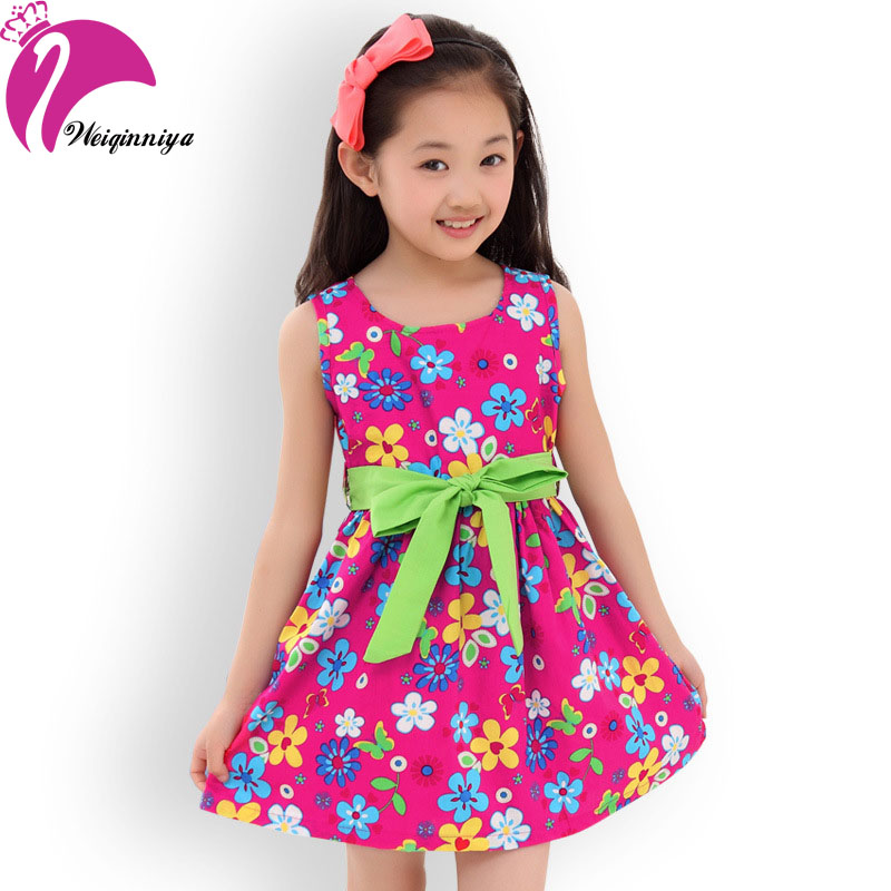 summer 2016 new casual cotton girl dress sleeveless baby