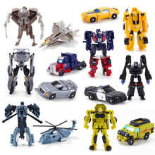 Mini Classic Transformation Plastic Robot Cars Action Toy Figures Kids Education Toy Gifts