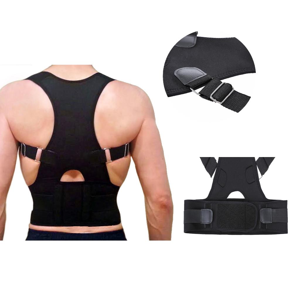 2015 New Fully SIZE M L XL Adjustable Back Brace for Posture Correction Back Pain Support UNISEX, Students Adjust Useful(China (Mainland))