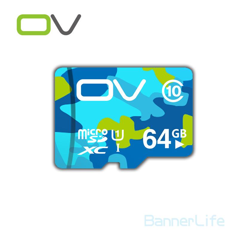 2PCS/LOT OV Colorful Memory Micro SD Card 64GB Class 10 UHS-1 TF Carte Microsd Flash Card SDCard for Mobile Phone Smartphone MP3(China (Mainland))