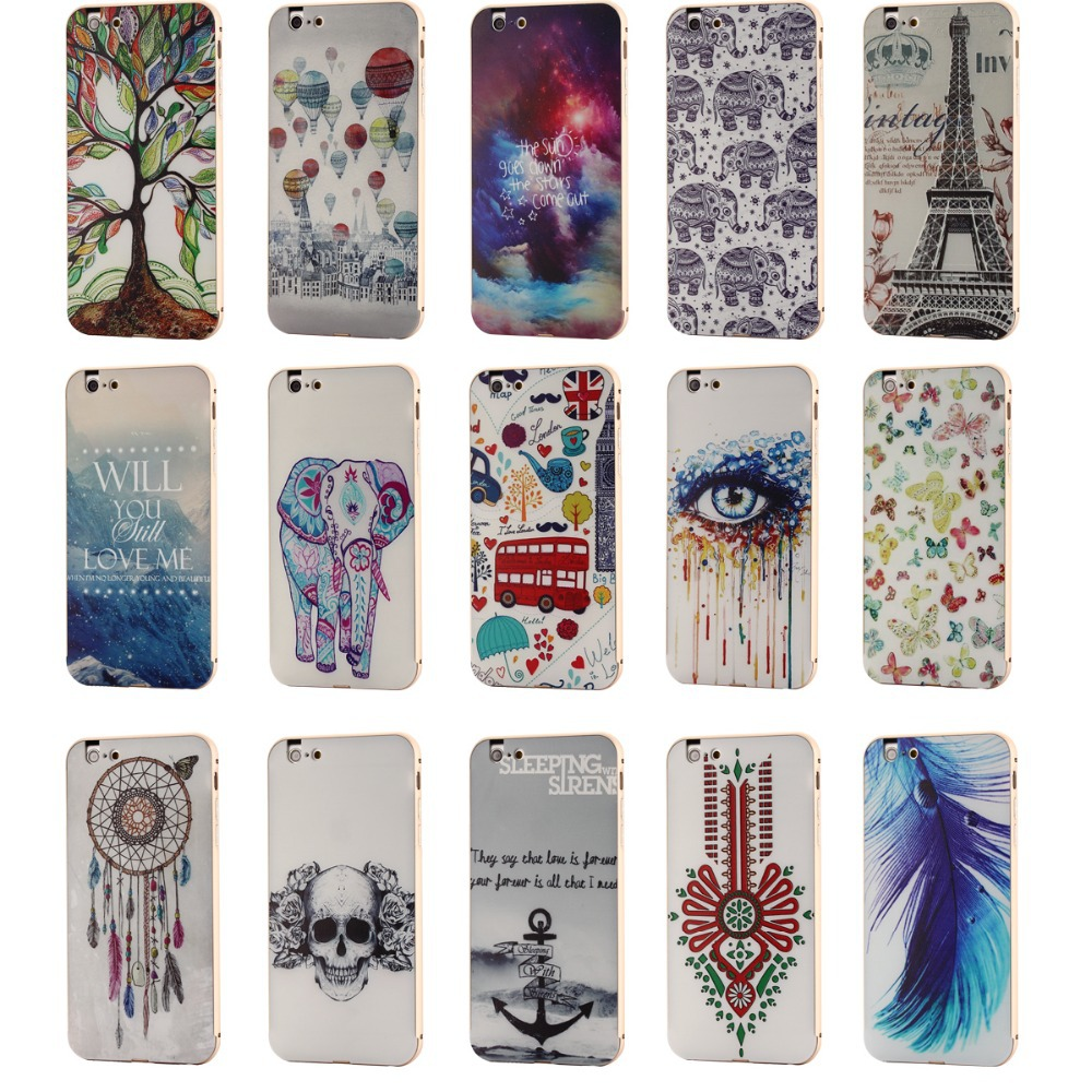 i6 plus Aluminum Metal Frame+Border fashion PC Back Cover iphone6plus 5.5inch Luxury Style Mobile Phone Bag Case - OK7 store