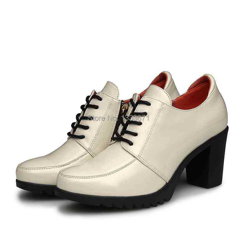 2014 new lace up shoes platform high heeled shoes genuine