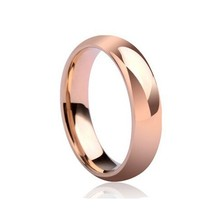 Never fading Titanium lovers ring 18K real rose gold plated finger ring men women wedding ring USA SIZE