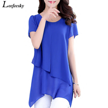 Buy Women Blouses Summer 2017 Korean Fashion Short Sleeve Vintage Chiffon Blouse Plus Size Women Clothing Ladies Tops Blusa Feminina for $8.55 in AliExpress store