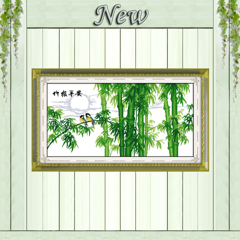 Bamboo forest birds decor paintings counted printed on canvas DMC 14CT 11CT chinese Cross Stitch Needlework Sets Embroidery kits