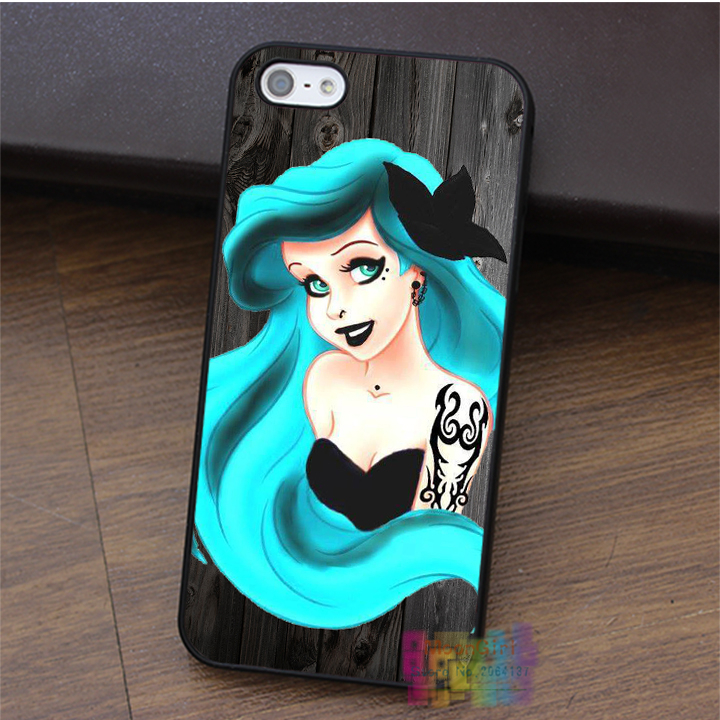 Turquoise Ariel On Wood fashion cell phone case for iphone 4 4s 5 5s 5c SE 6 6s & 6 plus & 6s plus #LI3280(China (Mainland))