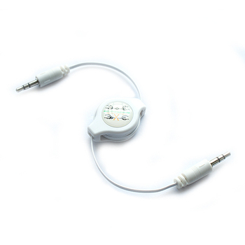 Aux Audio Cable 3.5MM White Jack For IPOD/MP3/CAR AUDIO