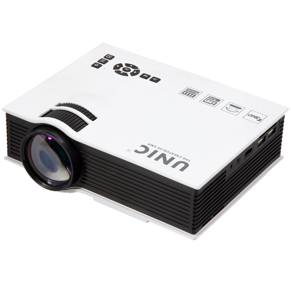 Unic uc40 mini pico portable 3d projector hdmi home for Small hdmi projector