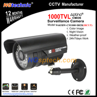 Hot selling! CCTV Camera 1000TVL HD ircut filter day and night vision indoor/outdoor waterproof free bracket surveillance camera