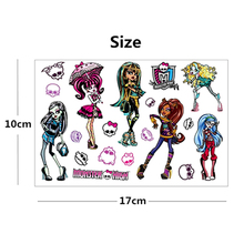 Monster High Phantom Dolls Elf Flash Tattoo Sticker 17 10cm Waterproof ASTM Pigment Henna Temporary Tatoo