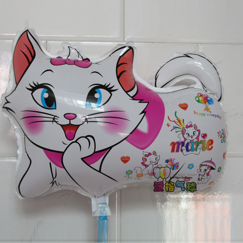 50*40cm white Marie Cat balloon animals inflatable air balloons for party supplies kids classic baby toys(China (Mainland))