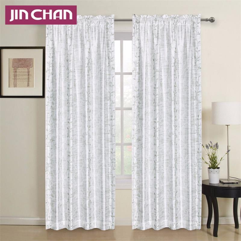 100% Polyester Finished Window Curtains For Living Room The Bedroom Shade Curtain Windows Treatment Drape Panel 2PCS(China (Mainland))