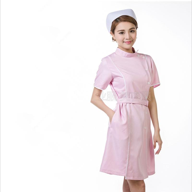 2016 Summer women hospital medical scrub clothes set dental clinic and beauty salon nurse uniform fashionable design slim fit(China (Mainland))