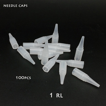 100pcs Disposable Tattoo Permanent makeup needle tips Traditional needle caps R1 Needle caps tips(China (Mainland))