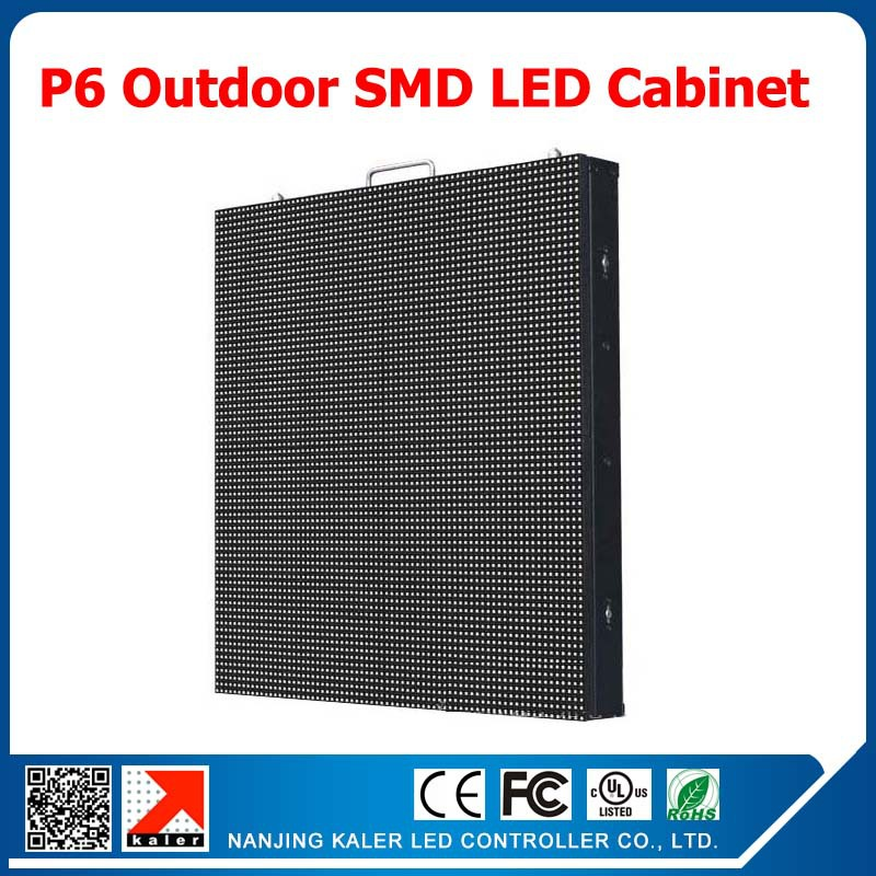 Kaler p6 outdoor full color led display cabinet 768 768mm for Exterior led screen