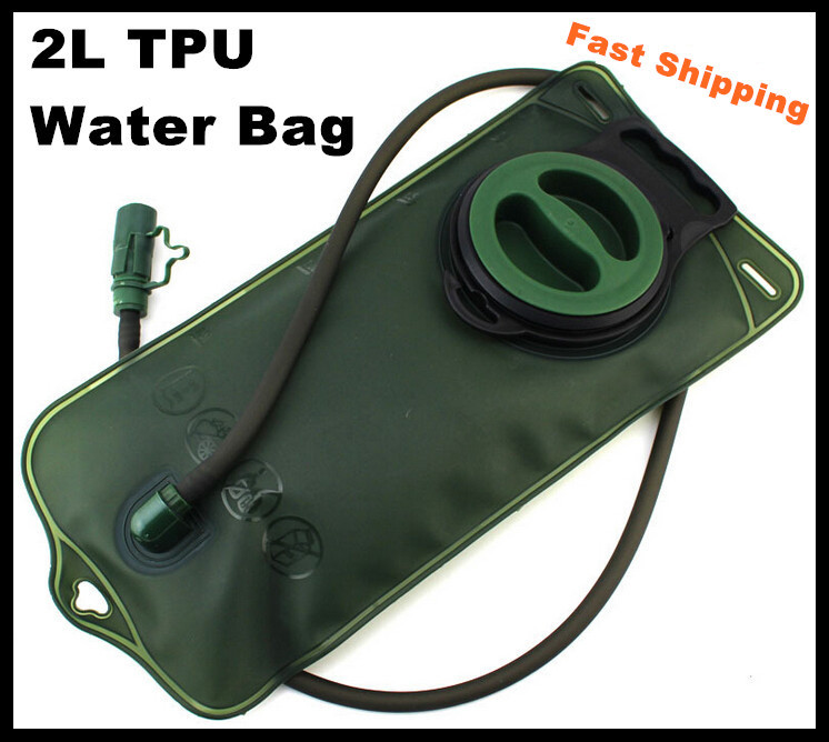 Fast Shipping 2L Portable TPU Bicycle Mount Sports Water Bag Bladder Hydration for Camping Hiking Climbing Military Green(China (Mainland))
