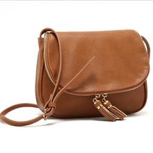 New Brand  PU Leather women Bags fashion women messenger bag high quality tassel handbags bag for woman Bolsas Femininas(China (Mainland))