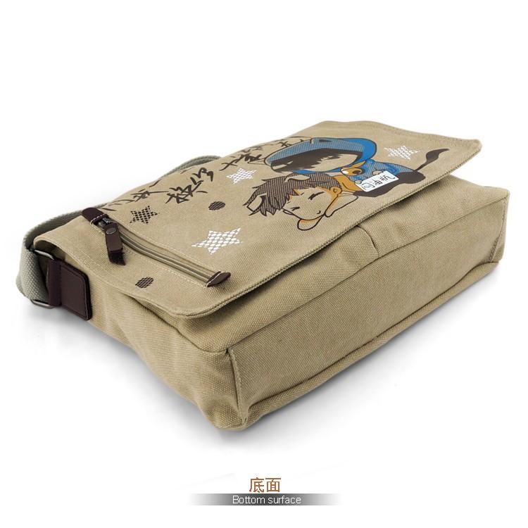 Anime Black Butler Kuroshitsuji Sebastian Cosplay Canvas Schoolbags Unisex Students Messenger Bag Casual Satchel