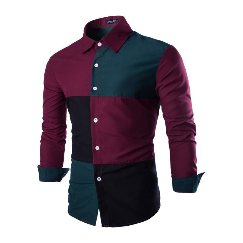 2013 fashion casual slim fit men s long sleeve dress