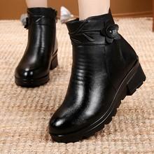 ZZPOHE Yeni Moda Deri Kadın yarım çizmeler Kış Su Geçirmez Sıcak Kadın Kar Botları Kadın Kaymaz rahat ayakkabılar Bayan Botları(China)