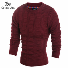 Seven Joe.High Quality Pullover Men New Fashion Round Collar Winter Sweater Men's Brand Slim Fit Pullovers Casual Sweater (China (Mainland))