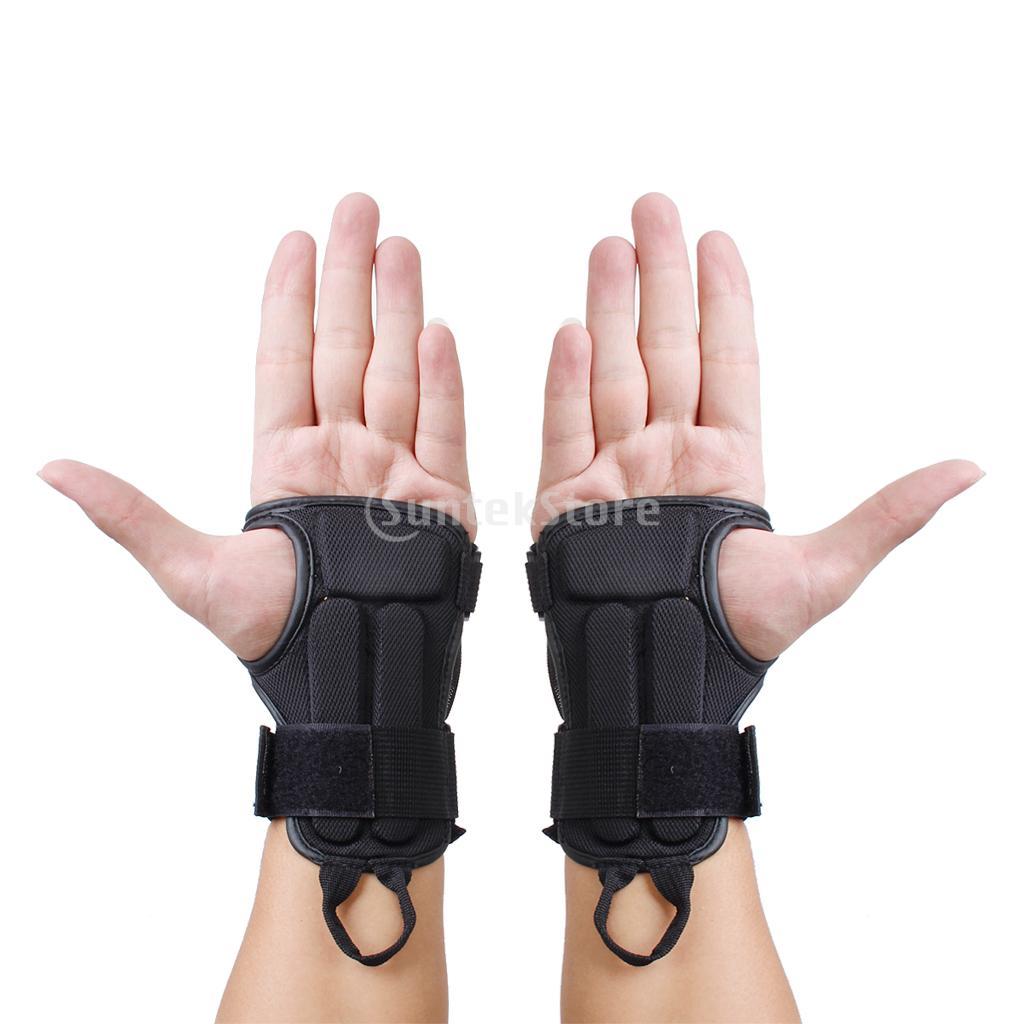 2014 Pair Snowboard Ski Protective Gear Glove Sport Wrist Support Guard Pads Brace - Bling Fashion store
