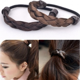 Free Shipping Headdress Decorated With A Small Easy Makeup Wig Hair And Headdress Flowers Braid Band Hair Rope(China (Mainland))