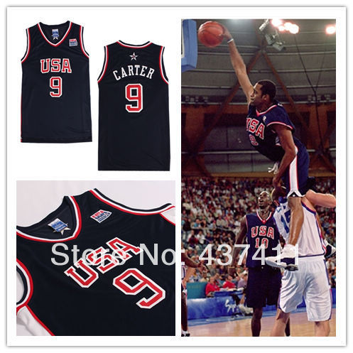 Cheap Death's Slam Dunk,2000 Olympic USA Team 9 Vince Carter Dark Blue New Rev 30 Lgos Basketball jersey(China (Mainland))