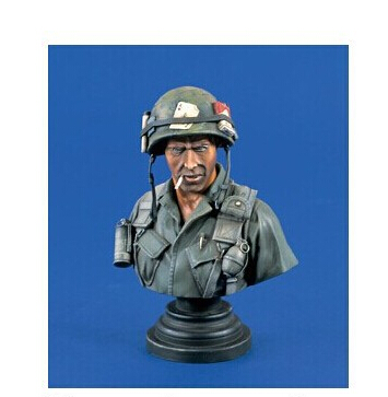 Free Shipping 1/10 Scale Resin Figure War The U.S. In the Vietnam Bust(China (Mainland))