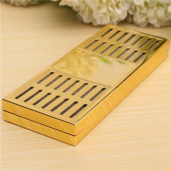 Gold Color Tobacco Rectangular Smoking Cigar Humidor Humidifier Tobacco Moisture Strip(China (Mainland))