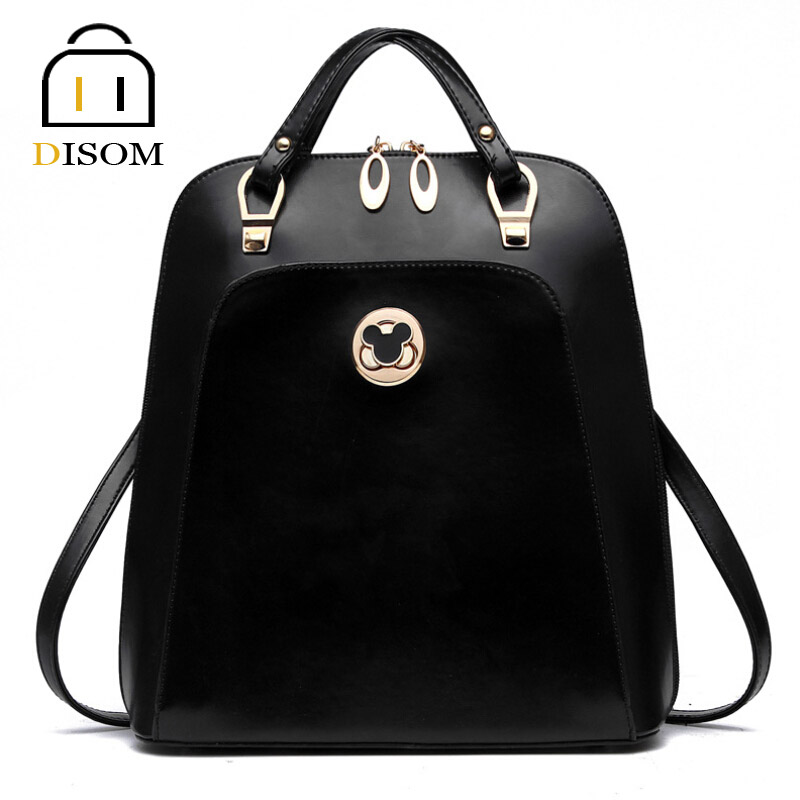 Disom New 2016 Famous Brand Designer Leather Handbags Luxury Two Shoulder Straps Women Messenger Bags 9 Colors Drop Shipping(China (Mainland))
